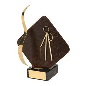 Trofeo hierro oxidado figura Excursionista  varios tamaños.  Ref - BP2216