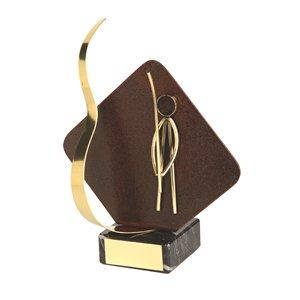 Trofeo hierro oxidado figura Pesca  varios tamaños.  Ref - BP2232