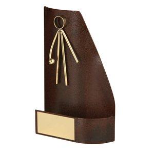 Trofeo hierro oxidado figura Pelota Mano  varios tamaños.  Ref - BP2430