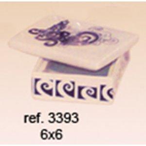 "Caja cuadrada Peq. ""O Faro"" 6x3,5"