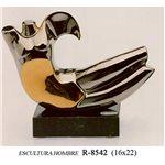 Escultura Hombre   Platino. 16*22