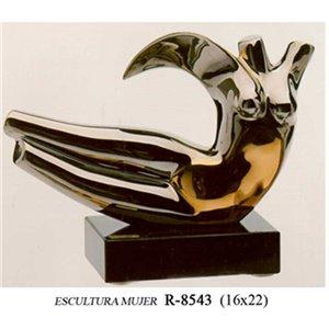 Escultura Mujer   Platino. 16*22
