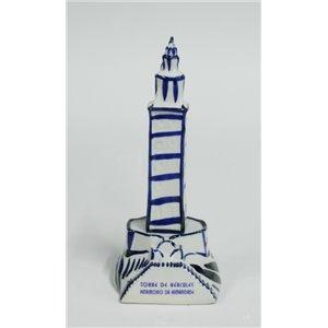 Torre de Hércules, esmalte blanco.-12x22cm-Ref-OTR06