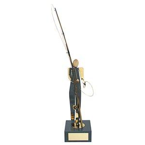 Trofeo figura pesca  varios tamaños.  Ref - BP409