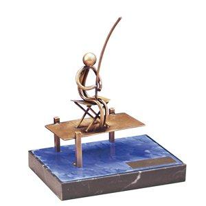 Trofeo pescador  varios tamaños.  Ref - BP816