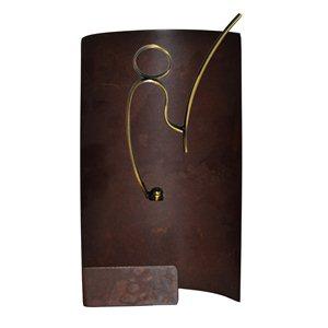 Trofeo hierro oxidado pesca  varios tamaños.  Ref - BP9721