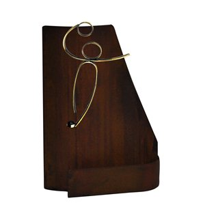 Trofeo hierro oxidado balonmano  varios tamaños.  Ref - BP9815