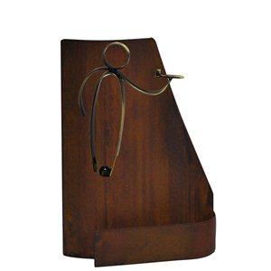 Trofeo hierro oxidado dardos  varios tamaños.  Ref - BP9836