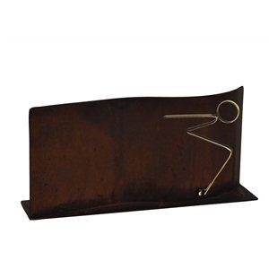 Trofeo hierro negro de Natación varios tamaños.  Ref - BP9910