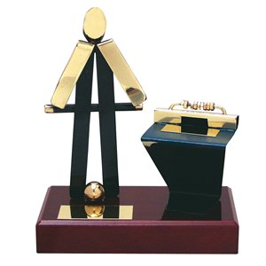 Figura de Latón Oro viejo Futbolín BP300/1FN