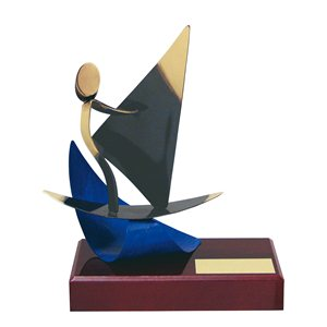 Figura de Latón Oro viejo  Windsurf BP300/1 WI