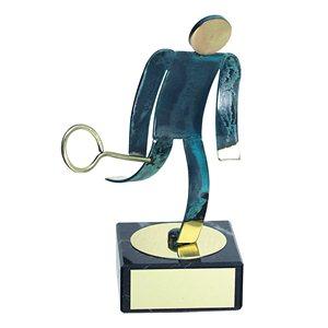 Trofeo Figura latón oxidado verde cm 18 Squash varios tamaños.  Ref - BP600/1 SQ